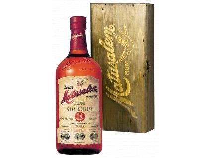 rum matusalem 15yo solera wooden box espirits.cz