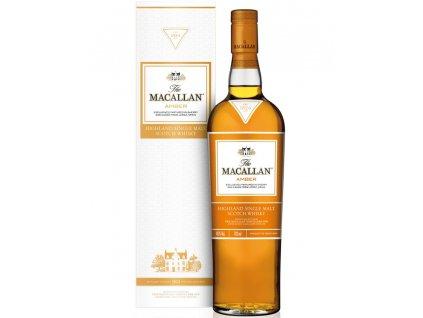 skotska single malt whisky the Macallan amber giftbox