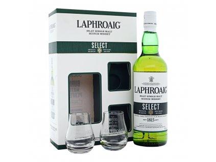 whisky laphroaig select 2 glases espirits cz