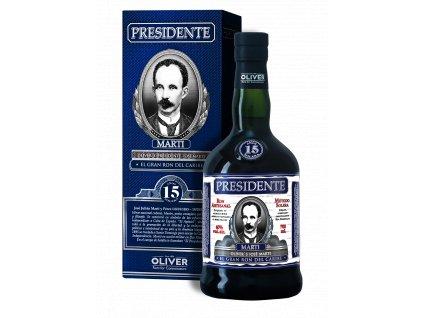 rum presidente 15yo giftbox espirits