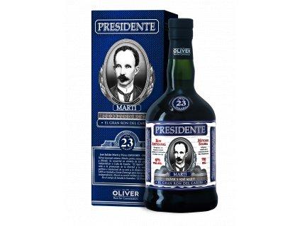 rum presidente 23yo giftbox espirits