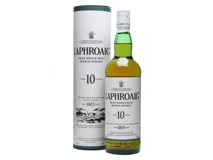 skotska single malt whisky laphroaig 10 yo giftbox