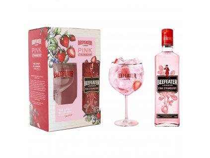 gin beefeater pink strawbery glass