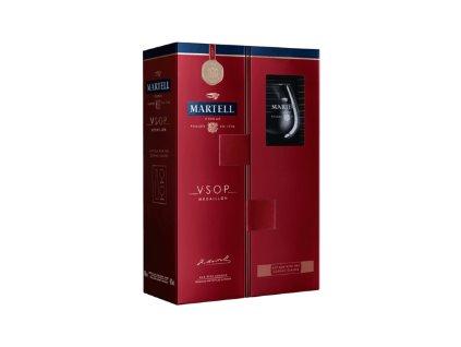 Martell vsop medailon 2 sklenicky darkove baleni konak cognac