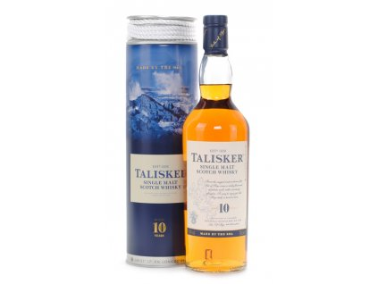 skotska single malt whisky talisker 10 yo giftbox provaz
