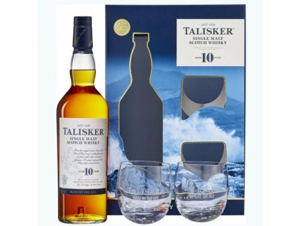 whisky talisker 2glasses giftbox
