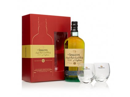 skotska single malt whisky Singleton of dufftown 12 yo darkove baleni sklenicky