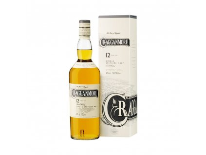 skotska single malt whisky craggqnmore 12 yo giftbox