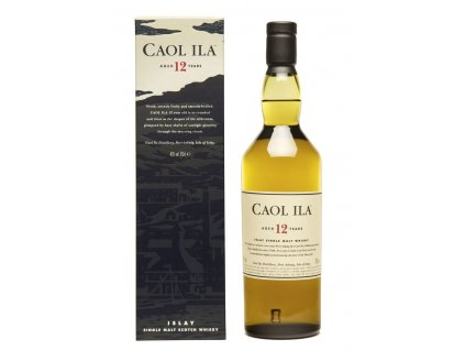 skotska single malt whisky Caol ila 12 yo giftbox