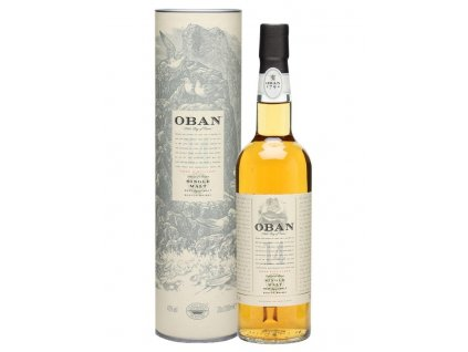 skotska single malt whisky oban 14 yo giftbox