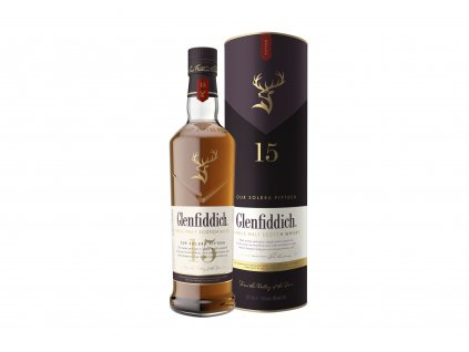 skotska single malt whisky glenfiddich 15 yo giftbox
