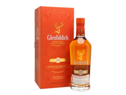skotska single malt whisky glenfiddich 21 yo giftbox