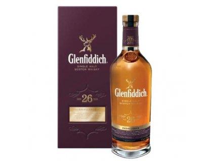 skotska single malt whisky glenfiddich 26 yo giftbox