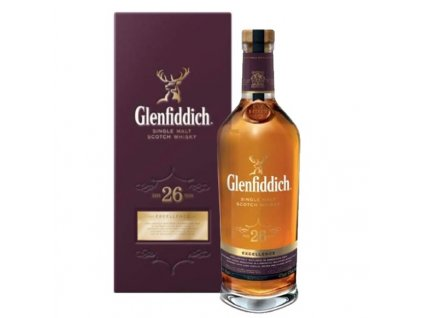 skotska single malt whisky glenfiddich 26 yo giftbox