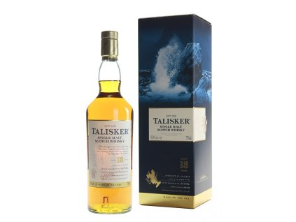 skotska single malt whisky talisker 18 yo giftbox