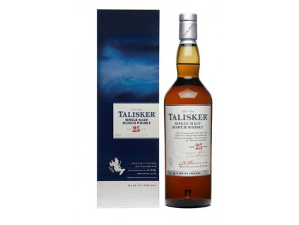 skotska single malt whisky talisker 25 yo giftbox