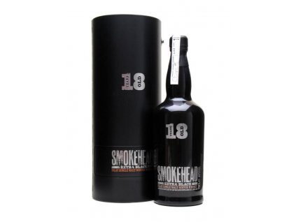 skotska single malt whisky smokehead 18 yo extra black giftbox