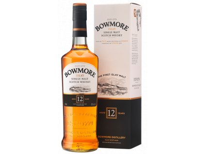 skotska single malt whisky bowmore 12 yo