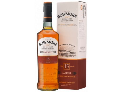 skotska single malt whisky bowmore 15 yo giftbox