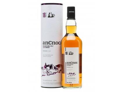 skotska single malt whisky ancnoc 18 yo giftbox