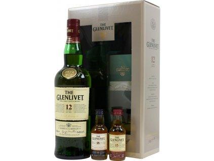 skotska single malt whisky glenlivet 12 yo miniatury dárkové balení