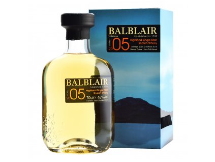 skotska single malt whisky balblair 2005 giftbox