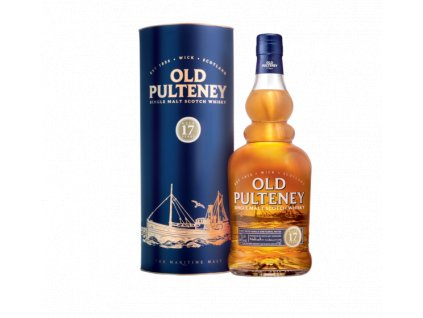 skotska single malt whisky old pulteney 17 yo giftbox