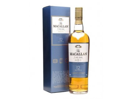 skotska single malt whisky the Macallan 12 yo fine oak giftbox