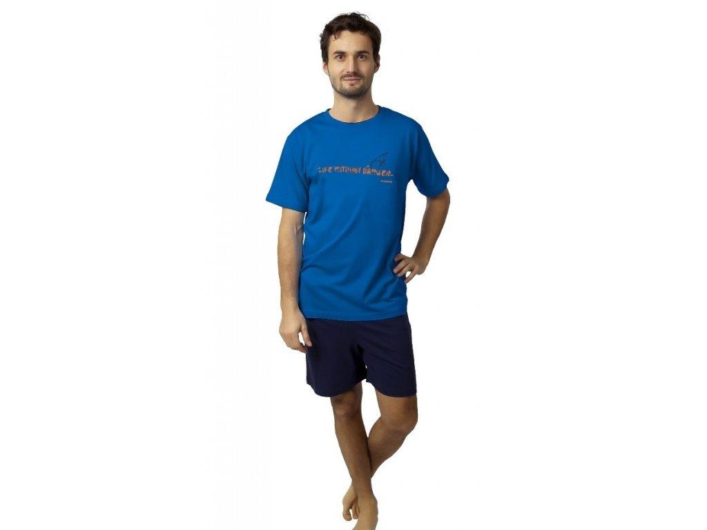 Pánské pyžamo krátké modré CALVI 19-087