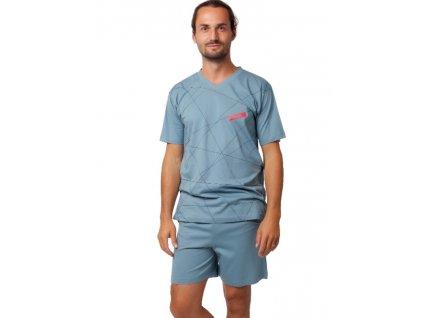 CALVI 19-539 Pánské pyžamo krátké barva šedá