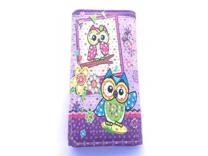 peněženka velká fialová