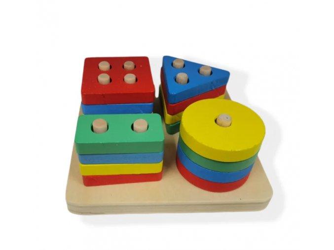 Dřevěná naučná a motorická hra IX