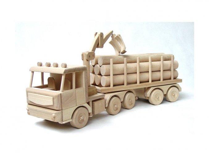 Dřevěný náklaďák s kládami