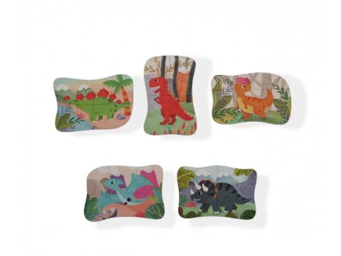 Moje první puzzle 5v1 dinosauři