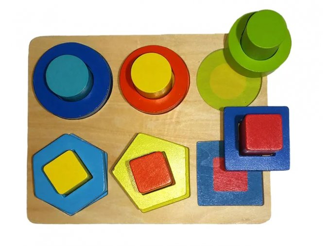 Dřevěná naučná a motorická hra I