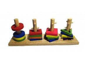 dřevěná naučná a motorická hra VI