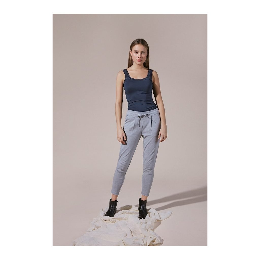 grey melange kateih pants cropped
