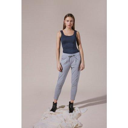 grey melange kateih pants cropped