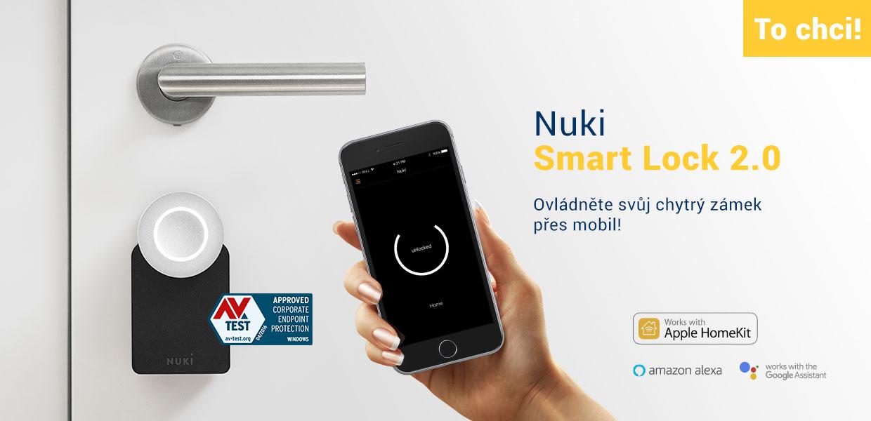 Chytrý elektronický zámek Nuki Smart Lock 2.0