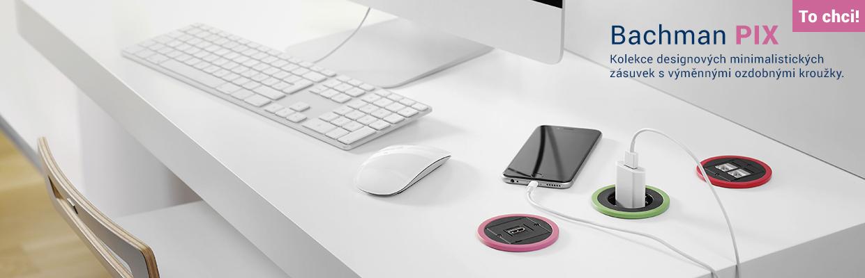 Designová kolekce minimalistických zásuvek s ozdobnými kroužky Bachmann Pix
