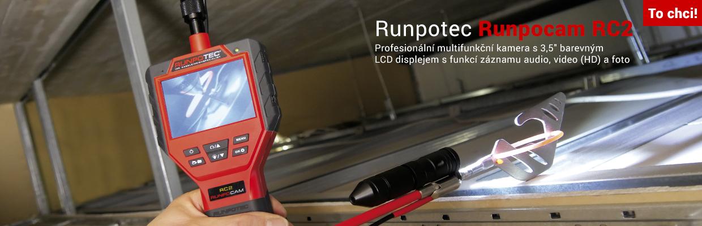"""Multifunkční kamera s 3,5"""" LCD displejem Runpotec Runpocam RC2"""