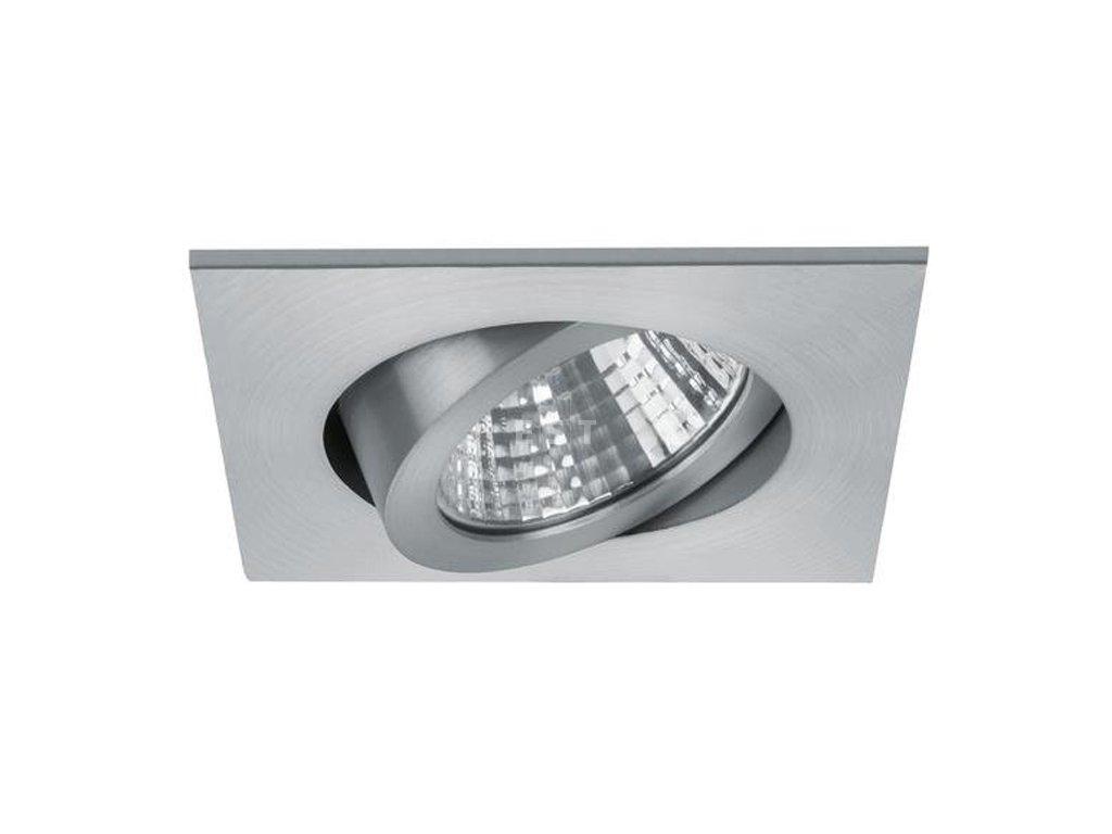 Čtvercové LED svítidlo pro nízkou vestavbu, matný hliník, 7 W, 740 lm (12362253)
