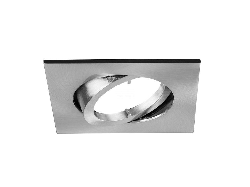 Vestavný rámeček pro nízkonapěťové žárovky, čtvercový, výklopný, pro GX5.3 12 V, matný nikl (32003150)