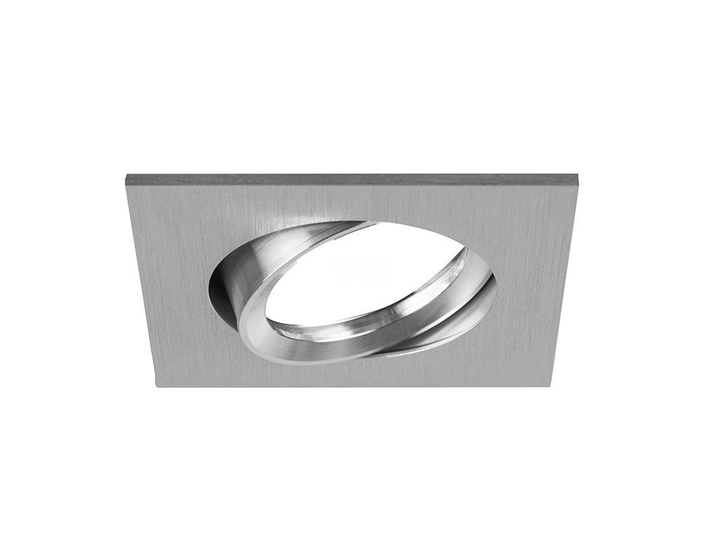Vestavný rámeček pro nízkonapěťové žárovky, čtvercový, výklopný, pro GX5.3 12 V, matný hliník (32005250)