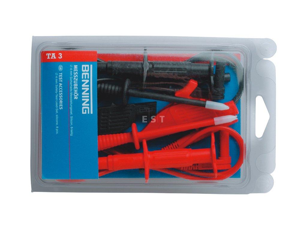 Sada bezpečnostních měřicích kabelů BENNING TA 3 (044126)