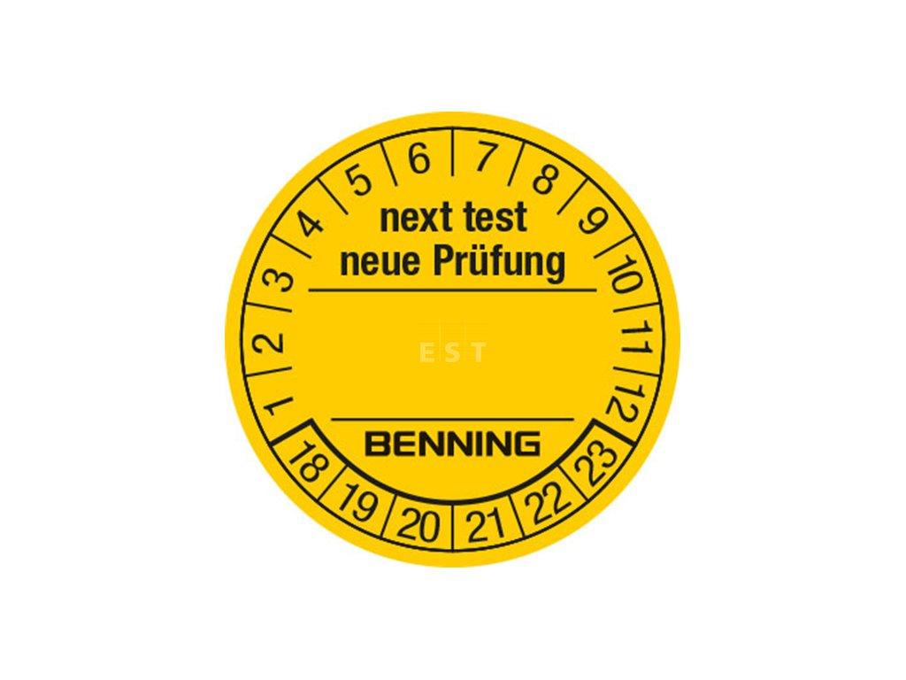 Samolepicí štítky pro označení termínu zkoušky BENNING (756212)