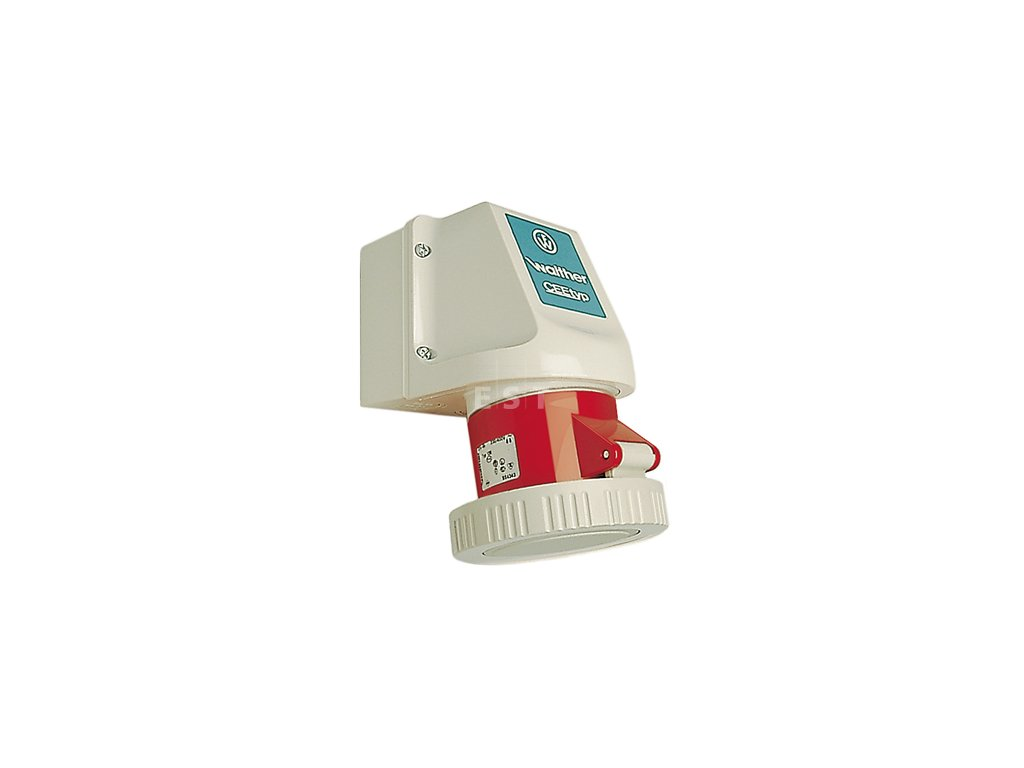 Nástěnná zásuvka 16 A, 5P, 400 V, 6h, IP 67 (119)