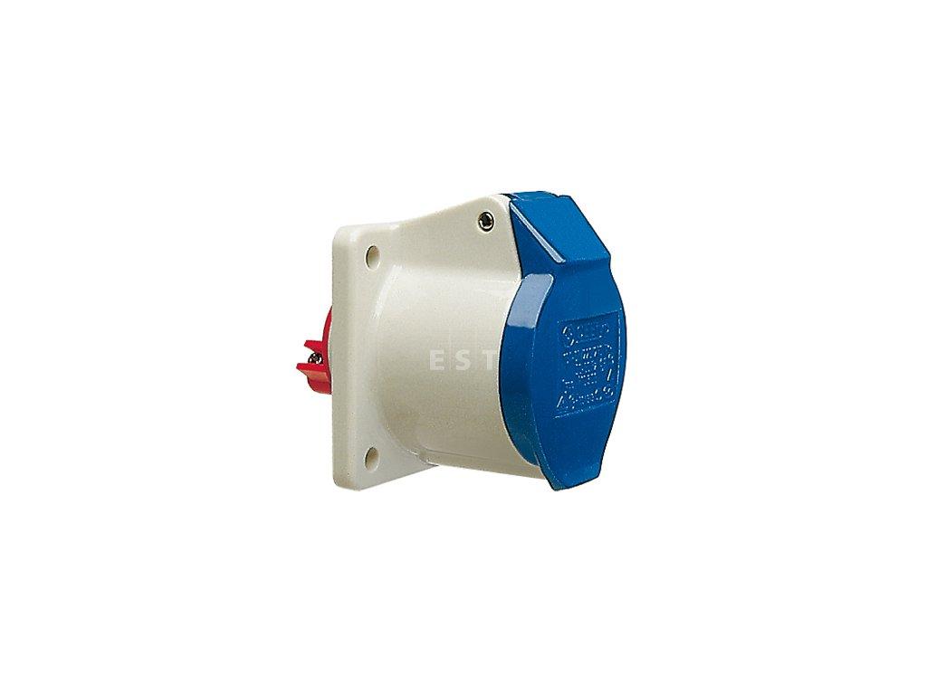 Vestavná zásuvka 32 A, 3P, 230 V, 6h, IP 44 (430306)