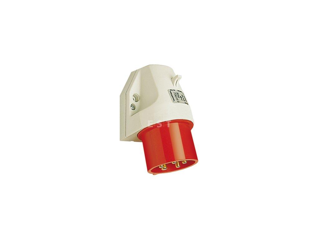 Nástěnná přívodka 32 A, 4P, 400 V, 6h, IP 44 (630406)