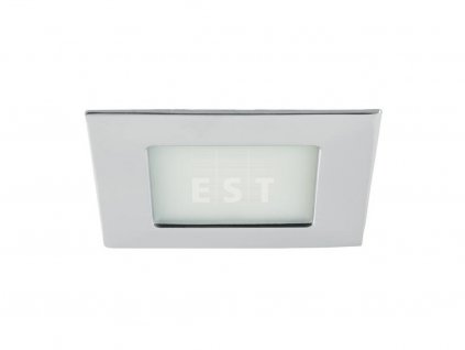 Čtvercové LED svítidlo pro nízkou vestavbu, chrom, 5 W, 375 lm (12128023)